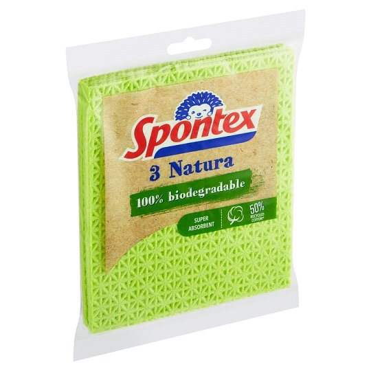 Spontex Natura Multi-Purpose Sponge Towels 3 pcs