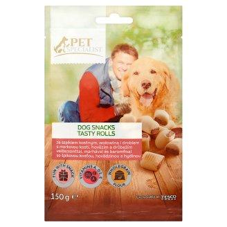 Tesco Pet Specialist Křupavé sušenky s morkovou kostí, hovězím a drůbežím 150g