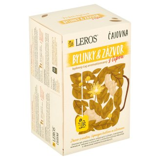 Leros Vital Ginger with Linden and Lemon Herbal Tea 20 Bags of 2g