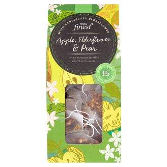 Tesco Finest Ovocný čaj z jablka, bezového květu a hrušky 15 ks 37,5g