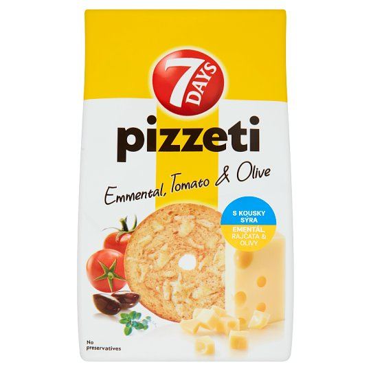 7 Days Pizzeti Emmental, Tomato & Olive 80g