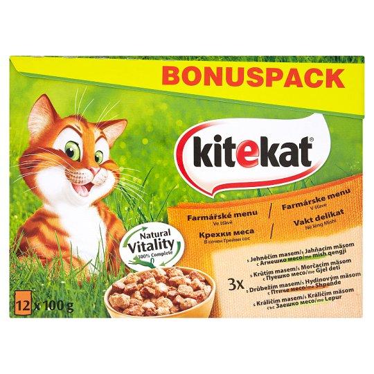 Kitekat Farmer's Menu Complete Food for Adult Cats 12 x 100g