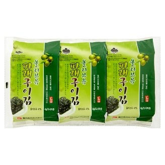 Manjun Seaweed with Olive Oil 3 x 4g