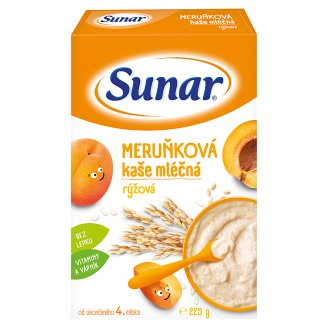 Sunárek Meruňková kašička mléčná rýžová 225g