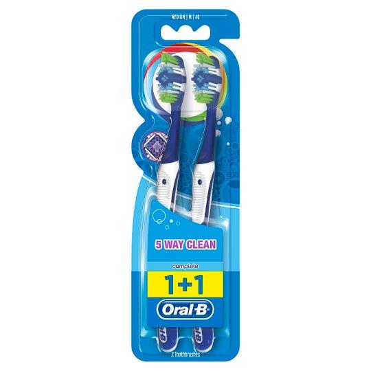 Oral-B Complete 5 Way Clean Středně Měkký Manuální Zubní Kartáček 2Ks