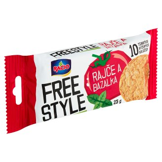 Racio Free Style Thin Rice Cakes with Tomato and Basil Flavour 25g
