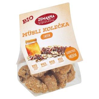 Biopekárna Zemanka Organic Muesli Wheels with Honey 100g