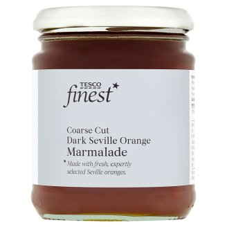 Tesco Finest Dark Coarse Cut Rich Seville Orange Marmalade 340g