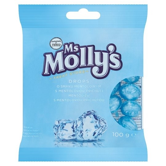 Ms Molly's Drops s mentolovou příchutí 100g
