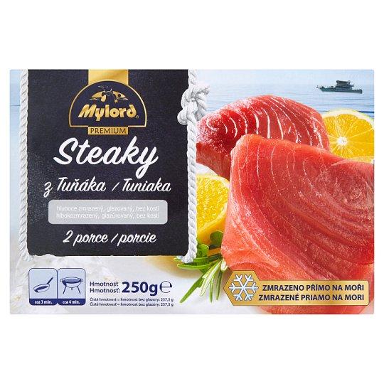 Mylord Premium Tuna Steaks - Deep-Frozen Glazed without Bones 250g