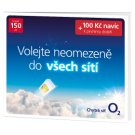 O2 Prepaid Card with Credit 150 CZK + 100 CZK Extra Credit