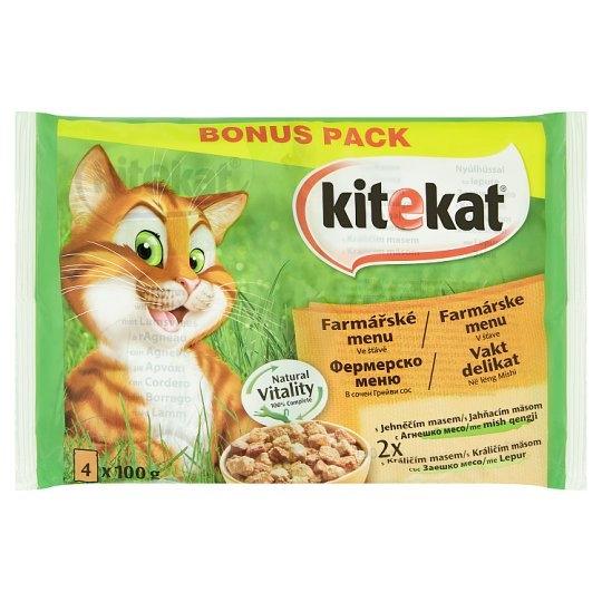 Kitekat Farmers' Menu in a State of Complete Food for Adult Cats 4 x 100g