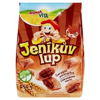 Bona Vita Jeníkův lup Cereální polštářky s čokoládovou náplní 250g