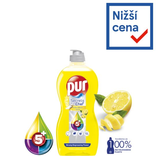 Pur Power Lemon Extra tekutý prostředek na ruční mytí nádobí 450ml