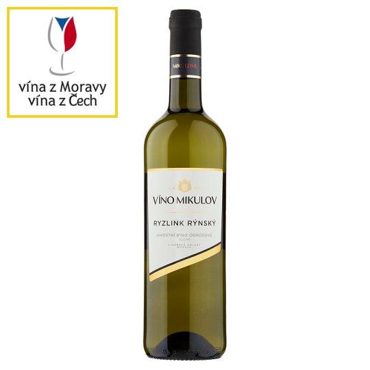 Víno Mikulov Ryzlink rýnský jakostní víno odrůdové suché bílé 0,75l