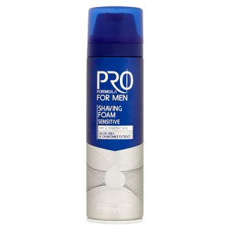Tesco Pro Formula For Men Sensitive Shaving Foam 200ml