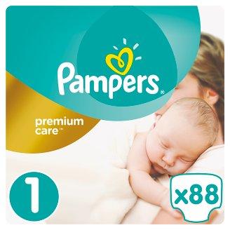 Pampers Premium Care Velikost 1 (Newborn) 2 – 5 kg, 88 Kusů