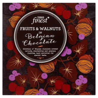 Tesco Finest Fruits and Walnuts in Belgian Chocolate 80g