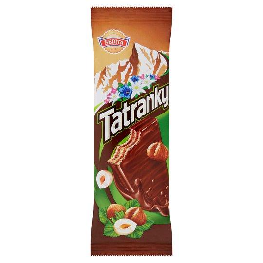 Sedita Tatranky Oplatky s lískoořechovou krémovou náplní v mléčno-kakaové polevě 30g