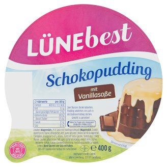 Lünebest Pudding with Chocolate Flavored with Vanilla Frosting 400g
