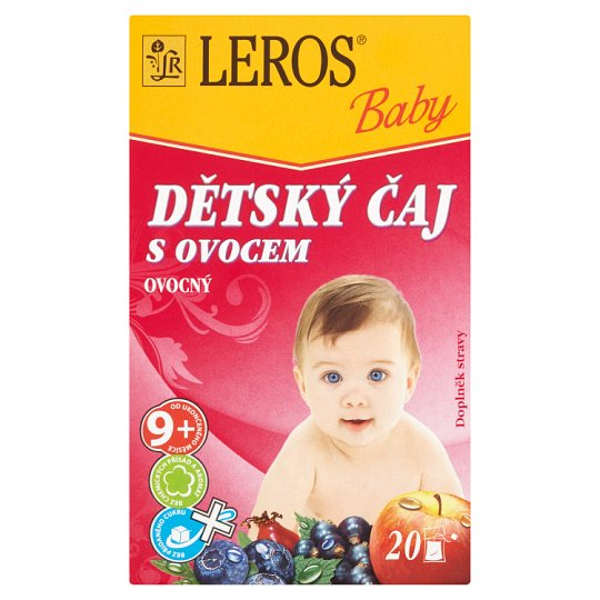 Leros Baby Dětský čaj s ovocem ovocný 20 x 2g