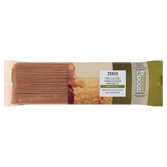 Tesco Organic Bio těstoviny celozrnné sušené bezvaječné 500g