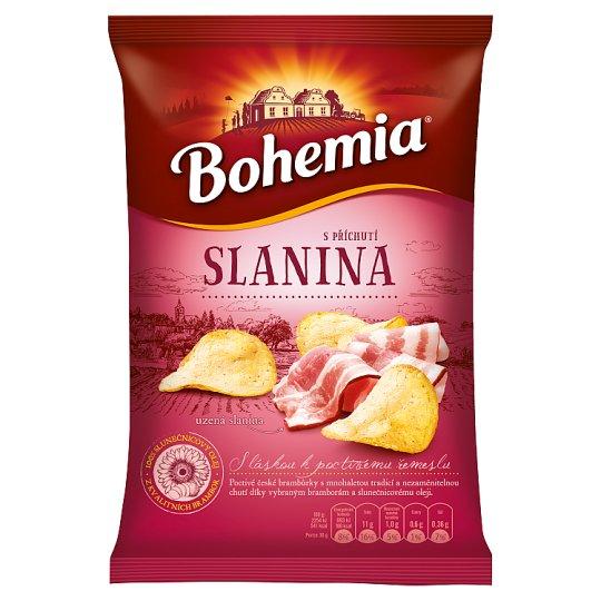 Bohemia Chips s příchutí moravská slanina 77g
