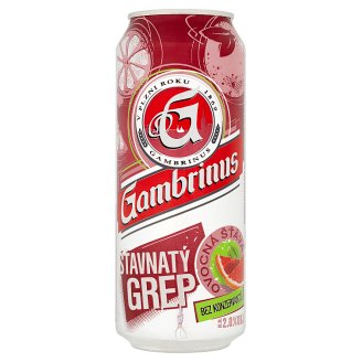 Gambrinus Šťavnatý grep míchaný nápoj z piva 500ml