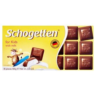 Schogetten Pro děti mléčná čokoláda s mlékem 100g