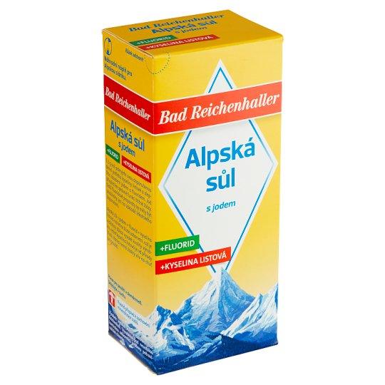 Bad Reichenhaller Alpská sůl s jodem, fluoridem a kyselinou listovou 500g