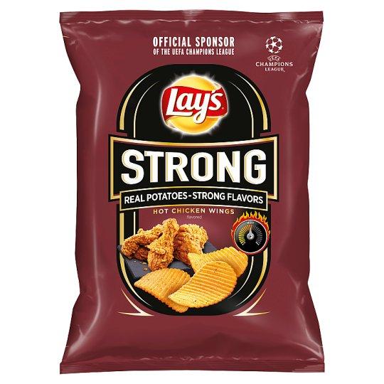 Lay's Strong Smažené bramborové lupínky s pikantní příchutí 65g