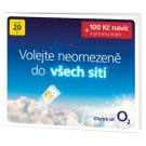 O2 Prepaid Card with Credit 20 CZK + 100 CZK Extra Credit