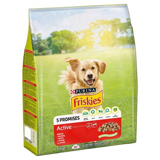 Friskies for Adult Active Dogs Active with Beef 3kg