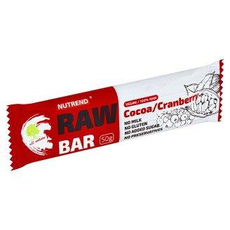 Nutrend Raw Bar Ovocná tyčinka s kakaem 50g