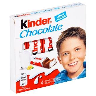 Kinder Chocolate Tyčinky z mléčné čokolády s mléčnou náplní 4 x 12,5g