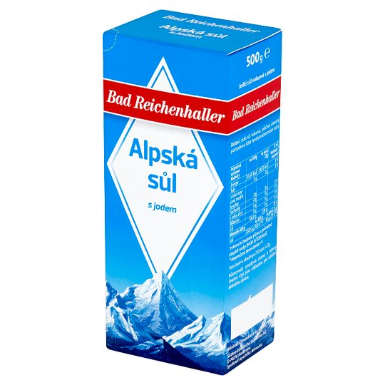 Bad Reichenhaller Alpine Salt with Iodine 500g