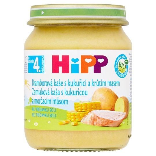 HiPP Bio bramborová kaše s kukuřicí a krůtím masem 125g