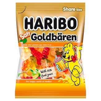 Haribo Goldbären želé cukrovinky s ovocnou šťávou z koncentrátu 175g