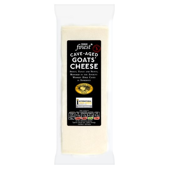 Tesco Finest Cave-Aged Goat's Cheese 190g