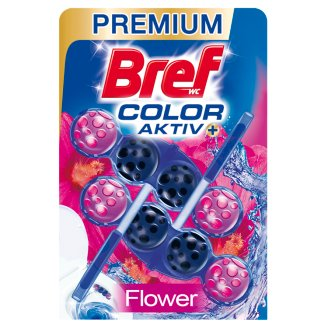 Bref Blue Aktiv Fresh Flowers tuhý WC blok 2 x 50g