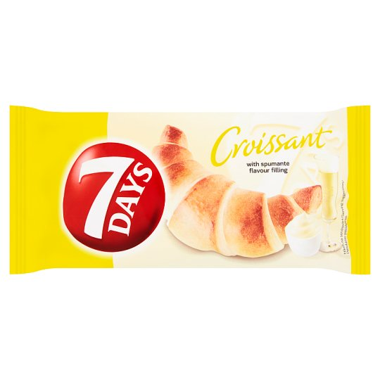 7 Days Croissant with Filling Flavored with Italian Sparkling Wine Spumante 60g