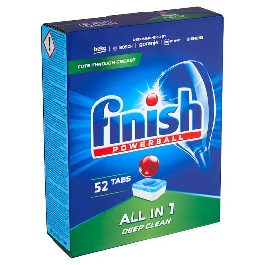 Finish Powerball All in 1 Dishwasher Tablets 52 pcs 941.2g