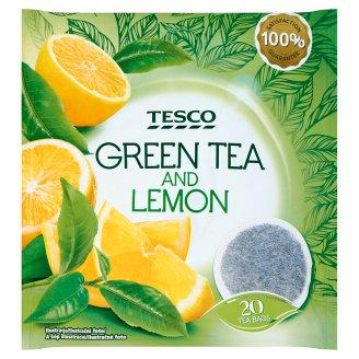Tesco Zelený čaj s citrónovou kůrou a citrónovou trávou 20 x 2g