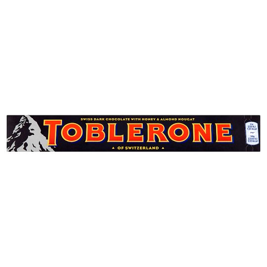 Toblerone Swiss Dark Chocolate with Honey and Almond Nougat 100g