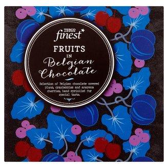 Tesco Finest Směs sušených švestek, klikvy a třešní v čokoládě 80g