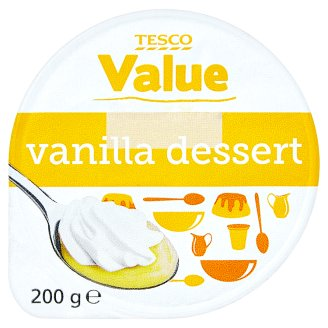Tesco Value Vanilla dessert 200g