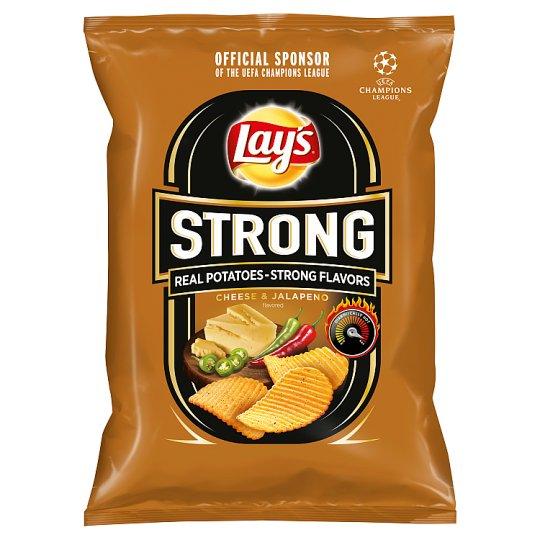 Lay's Strong Smažené bramborové lupínky s příchutí sýra a pikantních papriček 65g