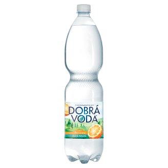 Dobrá voda Jemně perlivá s příchutí pomeranče 1,5l