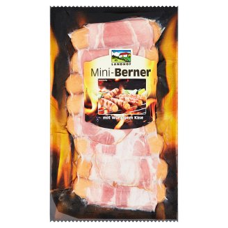 Landhof Mini-Berner Grilling Sausages with Cheese Wrapped in Bacon 250g