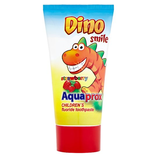 Dino Smile Aquaprox Children's Toothpaste with Fluoride and Strawberry Flavour 60g